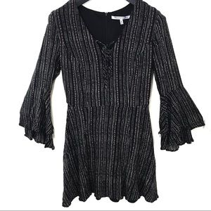 Collective Concepts Bell Sleeve Striped Dress M